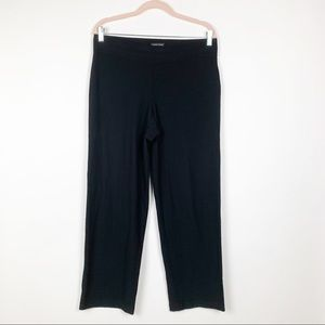 Eileen Fisher Knit Stretch Pant M Black #0206
